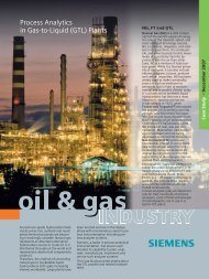 Process Analytics in Gas-to-Liquid (GTL) Plants - Siemens Industry ...