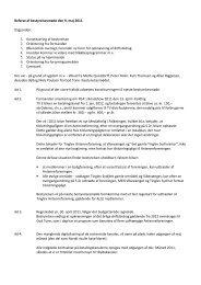 Referat af bestyrelsesmøde den 9. maj 2011. Dagsorden - Tinglev ...