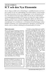 ICT och den Nya Ekonomin - Ekonomisk Debatt