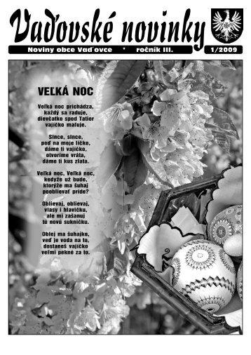 Vaďovské noviny 01/2009 - Vaďovce