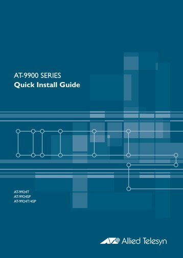 AT-9900 Series Quick Install Guide - Allied Telesis