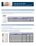 Lista de precios 2012 Lista de precios 2012 Calentadores de paso a gas Bosch - Page 3