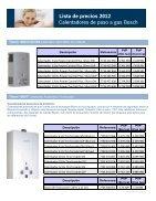 Lista de precios 2012 Lista de precios 2012 Calentadores de paso a gas Bosch - Page 4