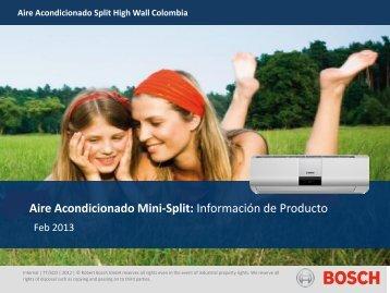 Aire Acondicionado Mini-Split: Información de Producto