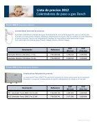 Lista de precios 2012 Calentadores de paso a gas Bosch Lista de precios 2012 - Page 2