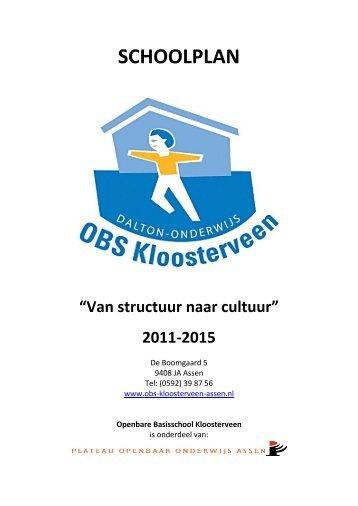 SCHOOLPLAN - OBS Kloosterveen