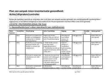 Plan van aanpak Risico inventarisatie & evaluatie ... - Haarlem Effect