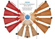 OCHA Le Cadre Stratégique 2010-2013