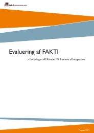 Læs vores evalueringsrapport her. - FAKTI