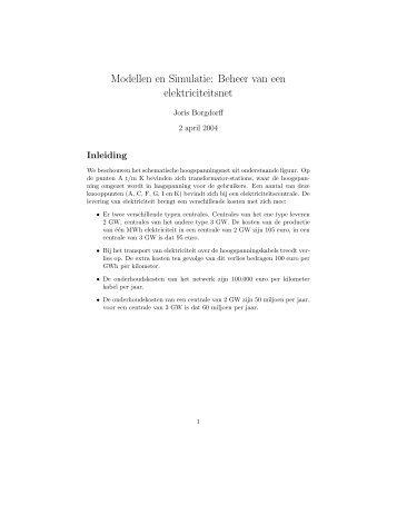 electricity network (PDF) - Blootsvoets door het leven