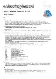 Schoolreglement - Da Vinci