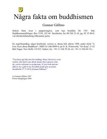 Några fakta om buddhismen - Buddha dhamma sangha