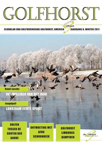 Clubblad Golfhorst Winter 2011 - Golfvereniging Golfhorst