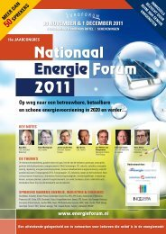 30 november & 1 december 2011 Nationaal Energie Forum 2011 - het ...