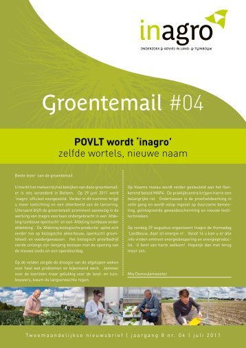 Groentemail Beitem - Jaargang 8 - nr. 4 - juli 2011 - Inagro