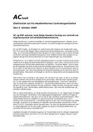 AC og DSF advarer mod Helge Sanders forslag om centralt ...