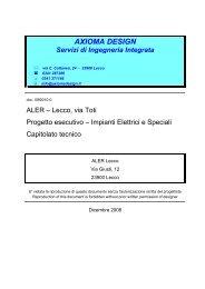 AXIOMA DESIGN Servizi di Ingegneria Integrata - Aler Lecco