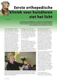 Orthopedie bij dieren - Schwering Communicatie