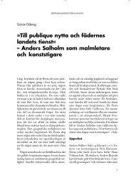Till publique nytta och fädernes landets tienst« – Anders Salholm ...
