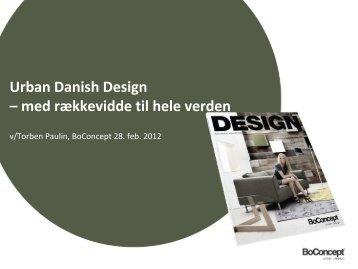 Urban Danish Design – med rækkevidde til hele verden
