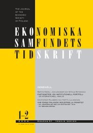 Nummer 1-2/2004 - Ekonomiska Samfundets tidsskrift