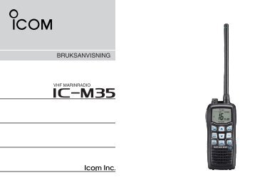 IC-M35 (Manual) - VHF Group AS