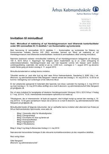 Invitation til miniudbud - Århus Købmandsskole