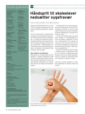 Håndsprit, et brugbart supplement til håndvask i skolen - Oplevelser ...