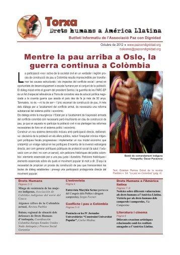 Butlletí català (PDF) - Paz con Dignidad