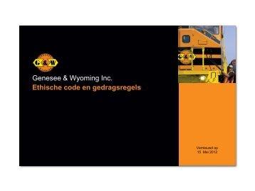 Genesee & Wyoming Inc. Ethische code en gedragsregels