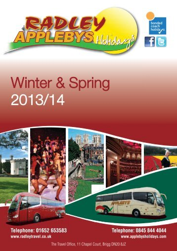 Radleys & Applebys Holidays, Winter 2013 Brochure