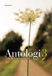 Ladda ner utdrag ur Antologi 3 - Sanoma Utbildning