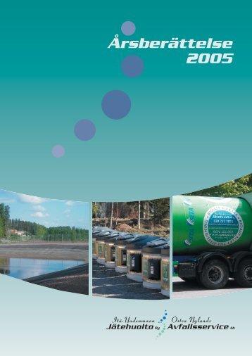 Årsberättelse 2005 - Itä-Uudenmaan jätehuolto Oy