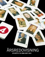 ÅRSREDOVISNING - TV4-Gruppen