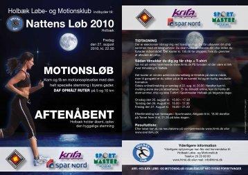 AFTENÅBENT - Holbæk Løbe og Motionsklub