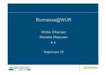 Presentatie Biomassa@WUR