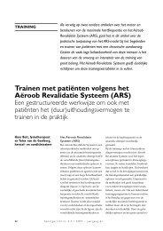 Trainen met patiënten volgens het Aëroob Revalidatie Systeem (ARS)