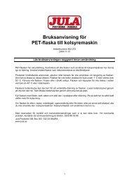 Bruksanvisning för PET-flaska till kolsyremaskin - Jula