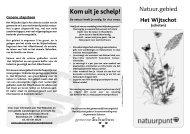 folder het wijtschot - Natuurpunt Antwerpen Noord