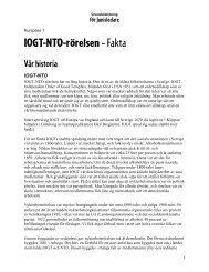 IOGT-NTO-rörelsen – Fakta - JUNIS - Grafisk profil