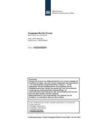 Vraagspecificatie Proces - Rijkswaterstaat
