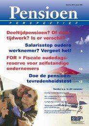 KMP Pensioen Perspectief december 2004/januari 2005 - Koster ...