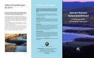 Våra produkter och tjänster - Ljusnan-Voxnans vattenvårdsförbund