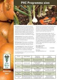 PHC Programma uien - Plant Health Care