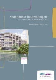 Nederlandse huurwoningen: - Bouwinvest Update