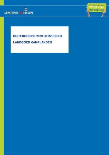 buitengebied 2009 herziening landgoed kamplanden - Gemeente ...