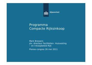 Opdracht programma Compacte Rijksinkoop - Pianoo