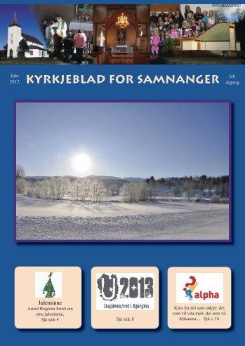 Juleblad - kyrkja - Samnanger - Den norske kyrkja