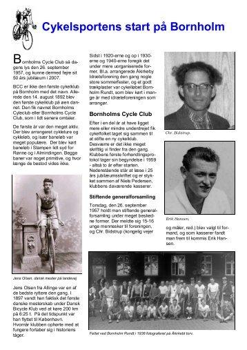 Sådan begyndte det - Bornholms Cycle Club