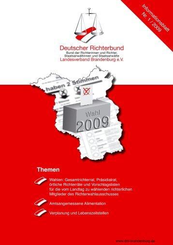 Die Themen - Deutscher Richterbund Landesverband Brandenburg ...